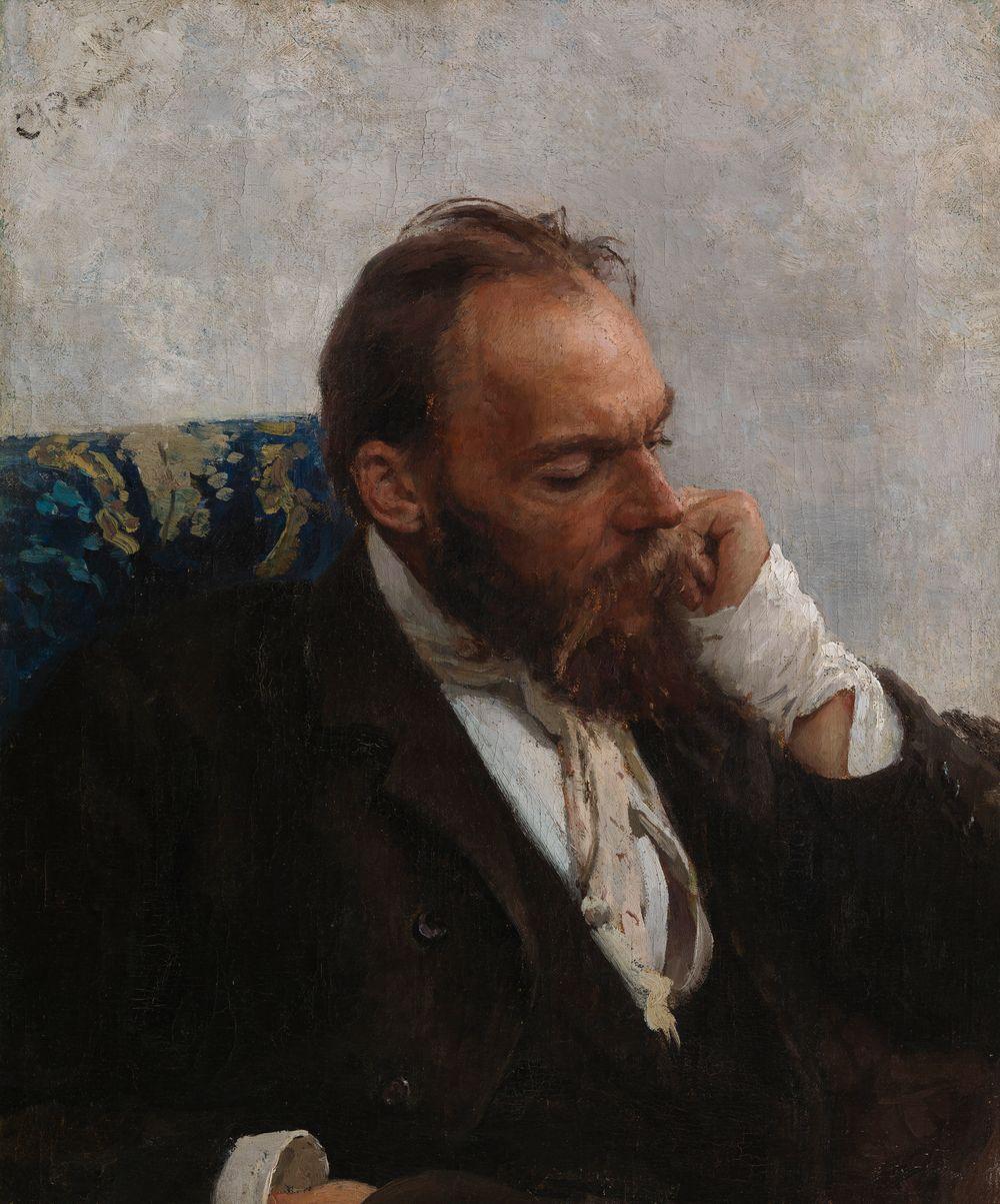 Porträtt av konstnären Nikolaj (Mykola) Murasjko