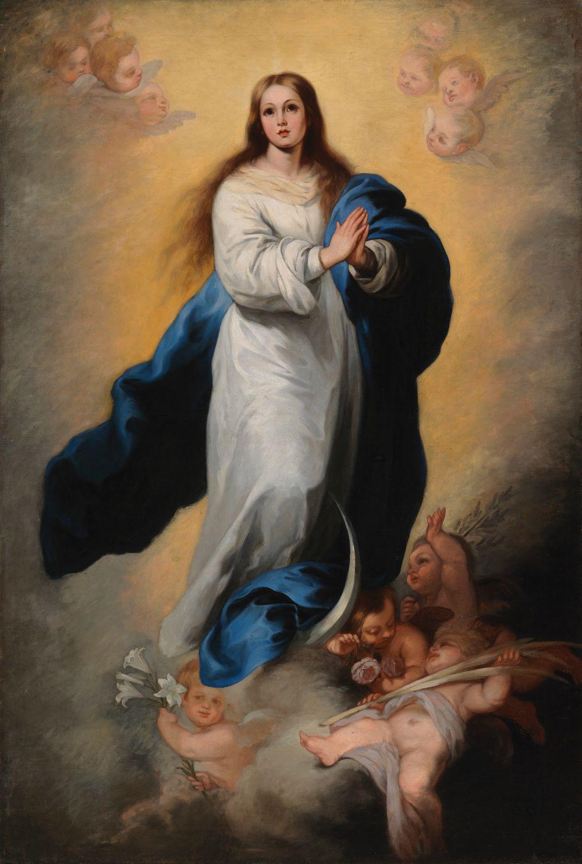 Marian neitseellinen sikiäminen, kopio Murillon mukaan