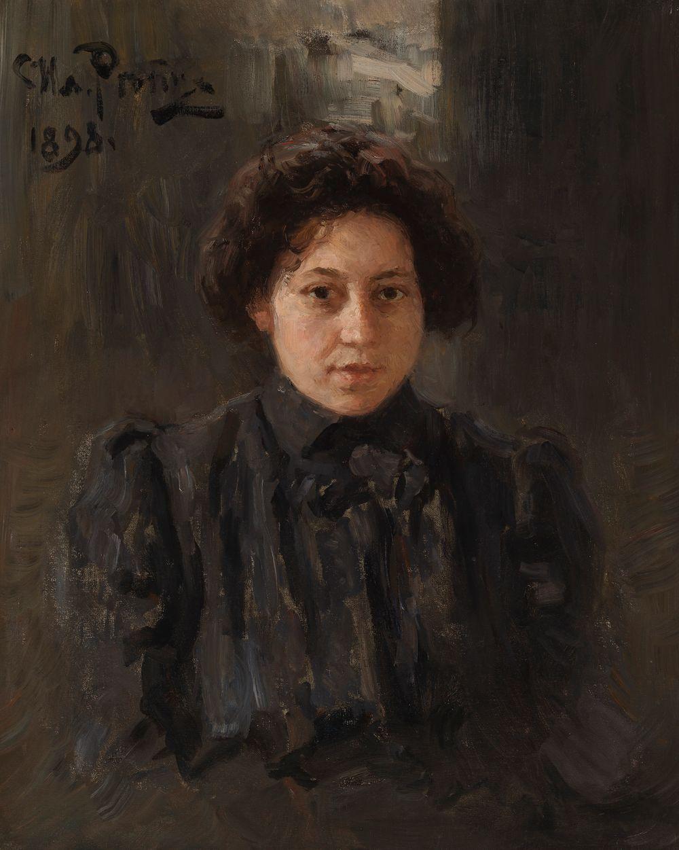 Porträtt av konstnärens dotter Nadezda Repina