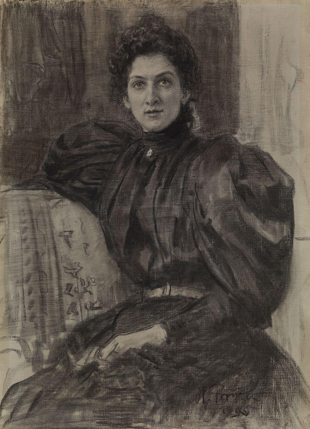 Skådespelerskan Vera Puškareva (Kotljarevskaja)