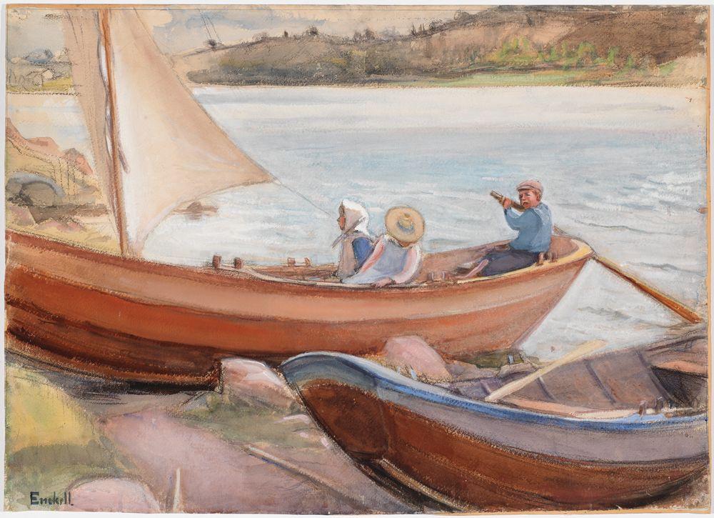 Veneitä rannalla