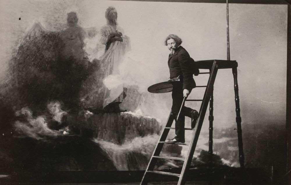 Ilya Repin painting Get Thee Behind Me, Satan