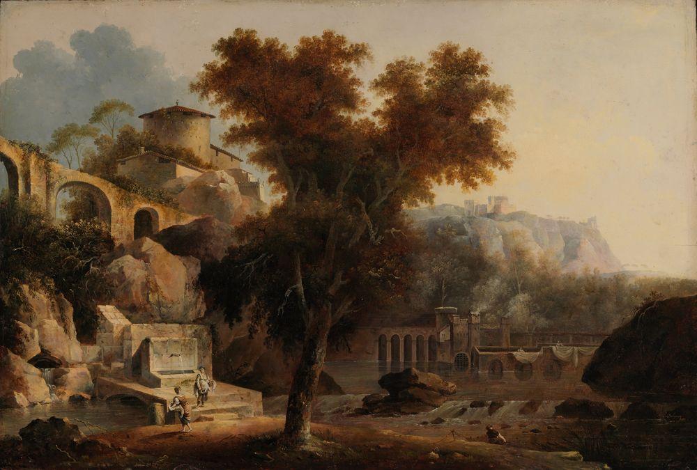 Italialainen maisema, akveduktin raunioita
