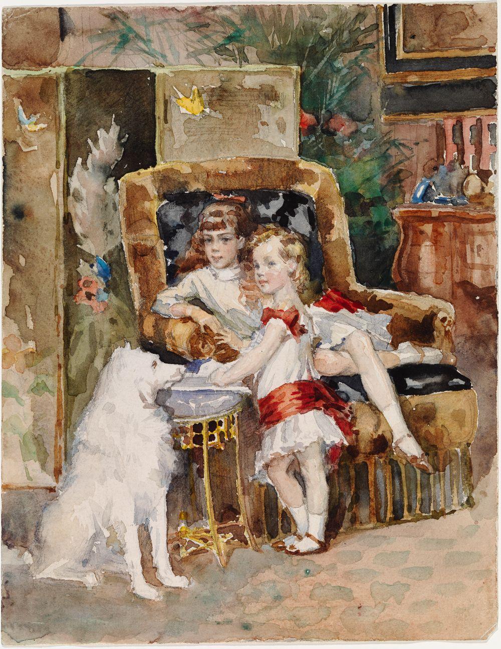 Aleksanteri III:n lapset Mikael ja Xenia, luonnos