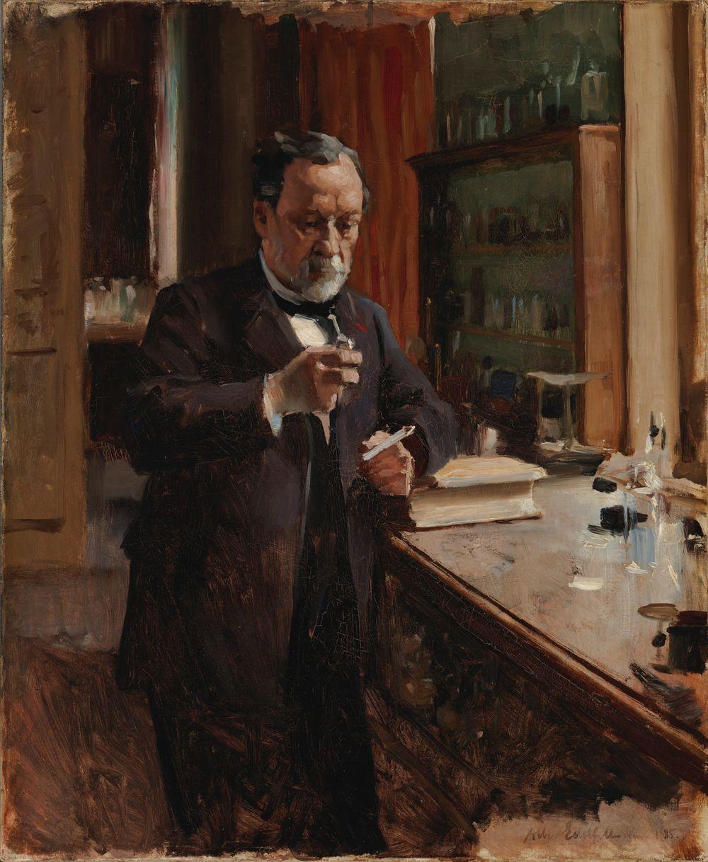 Louis Pasteurin muotokuva, harjoitelma