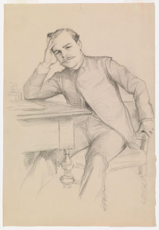 Kirjailija René Vallery-Radot´n muotokuva, harjoitelma