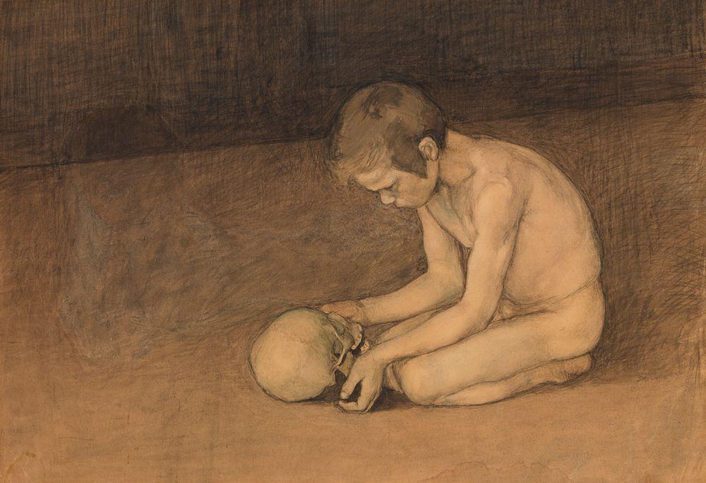 Poika ja pääkallo