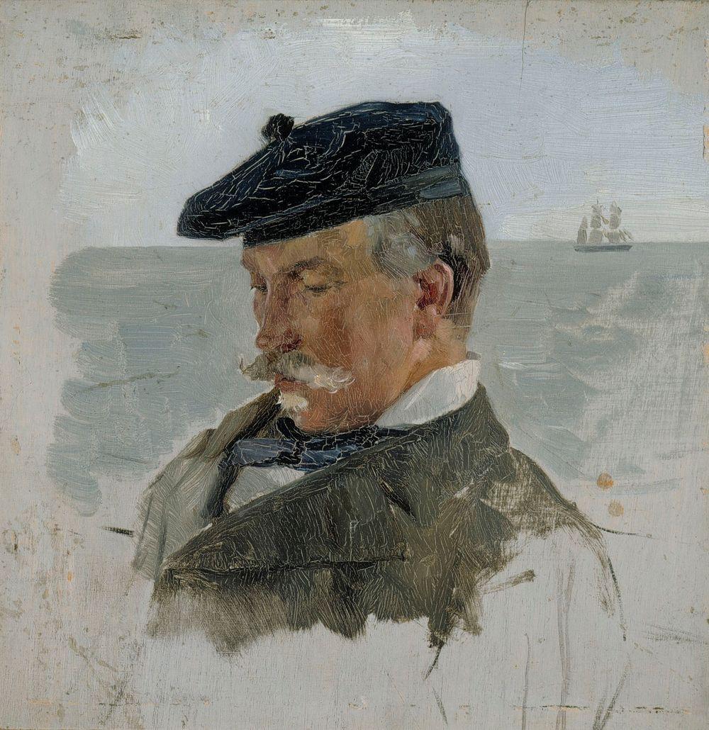 Adolf von Beckerin muotokuvaluonnos