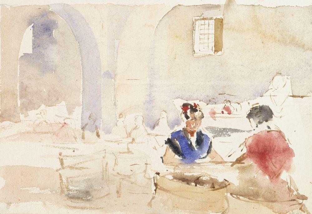 Espanjalainen interiööri (Tupakkatehtaassa Sevillassa)