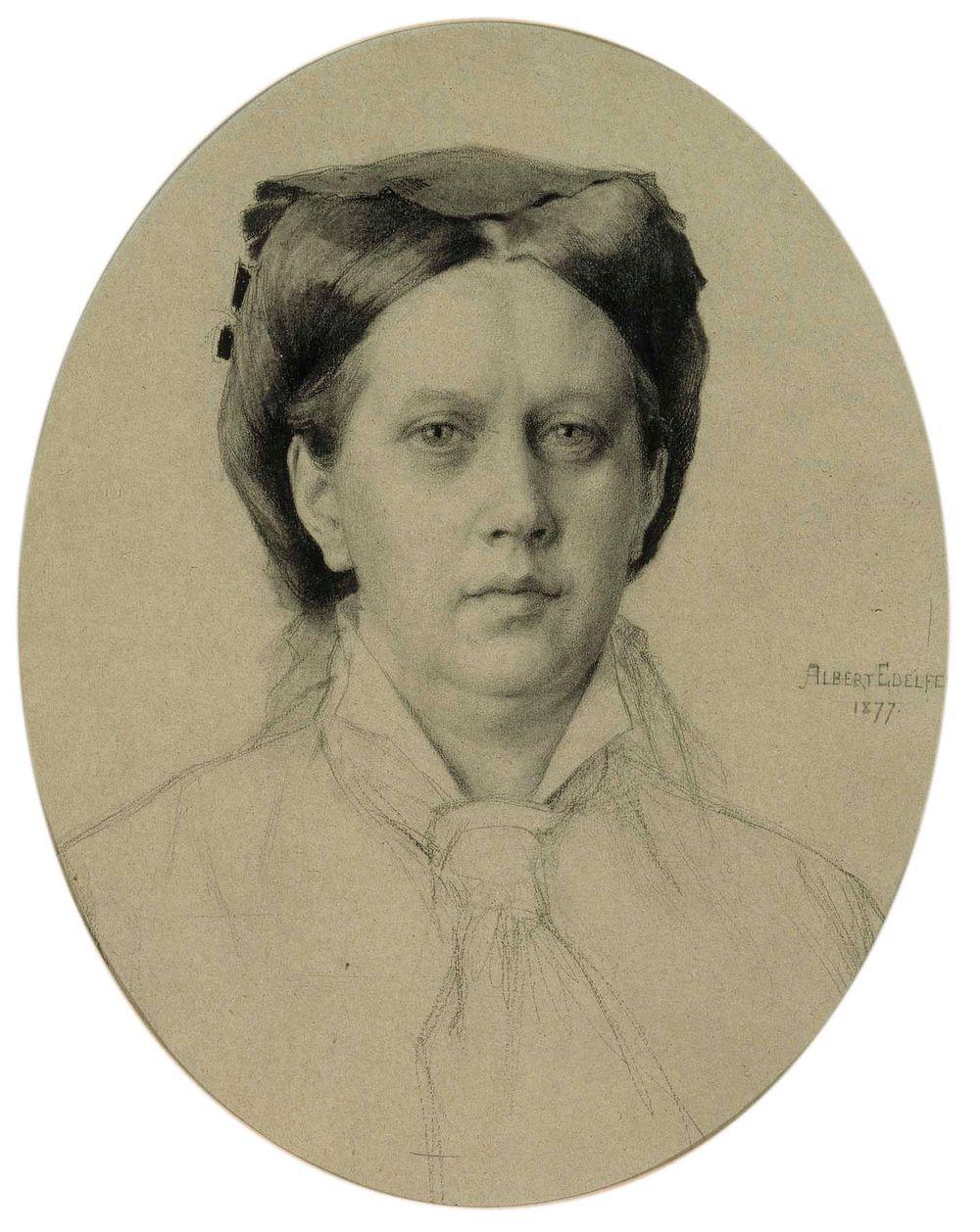Taiteilijan äiti, Alexandra Edelfelt