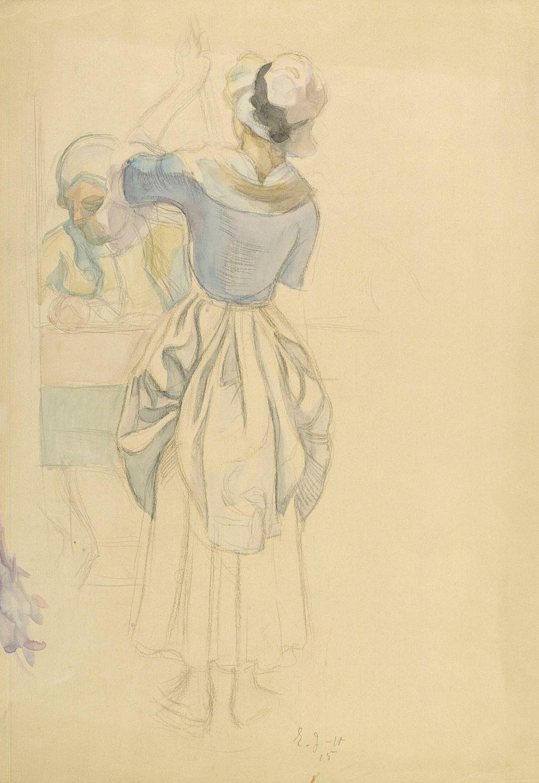 Man in Rococo Attire with Maid