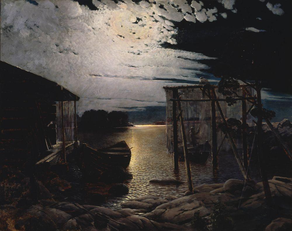 Kalastuspaikka kuutamolla