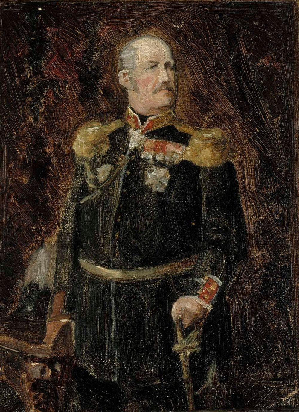 Luonnos kenraaliadjutantti, kreivi Adolf Aminoffin muotokuvaan