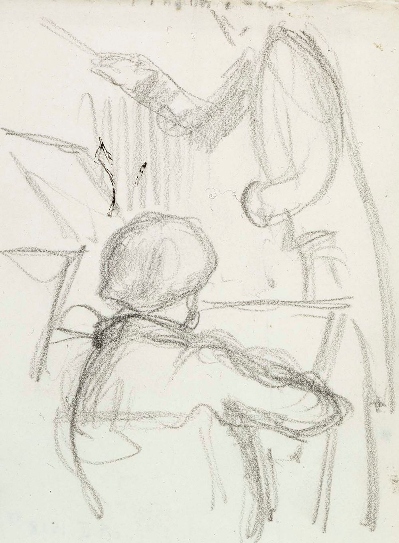 Harjoitelma orkisterinjohtajasta ja viulistista