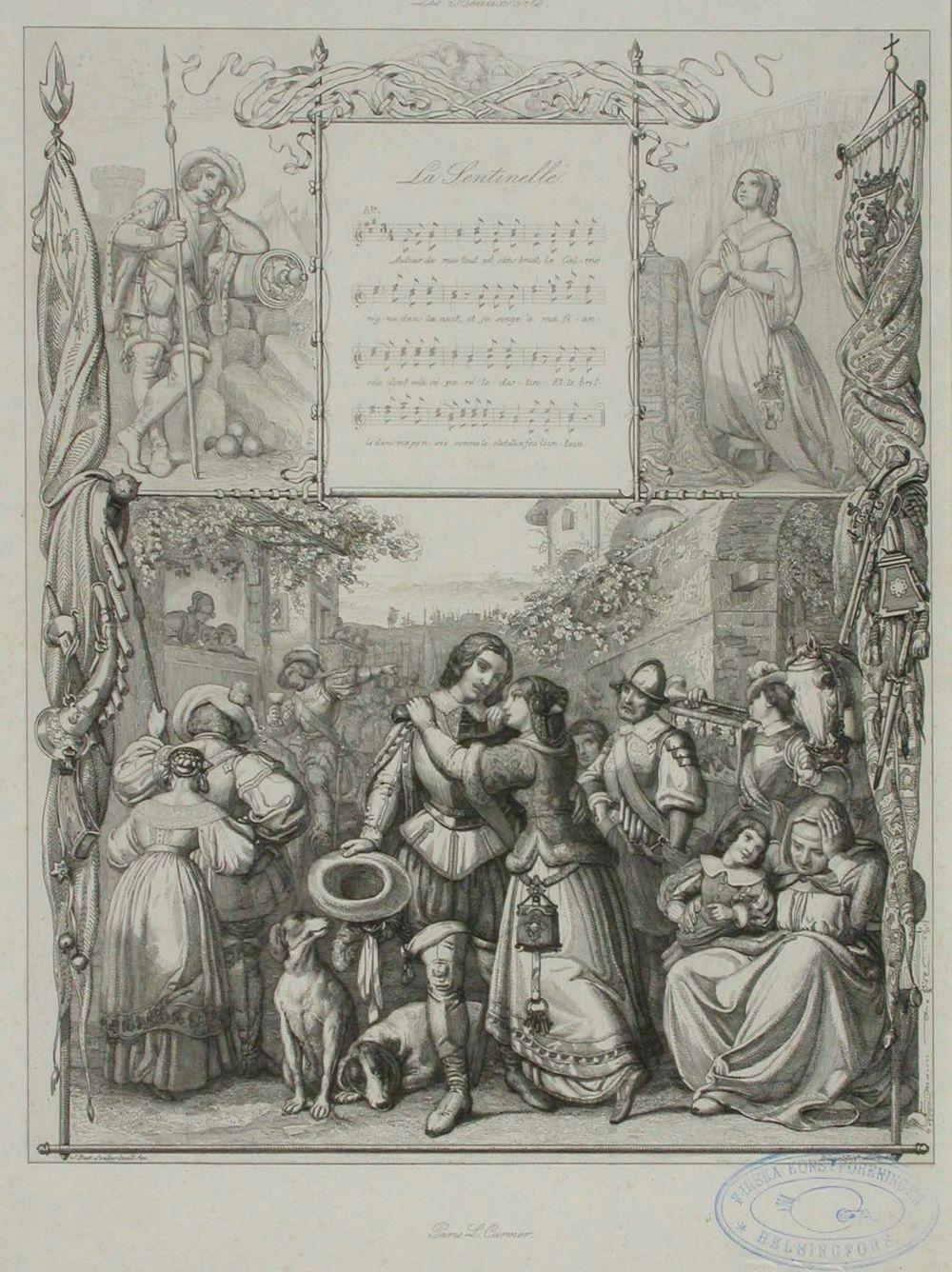 Les Beaux arts, kuvitus runoon La Sentinelle