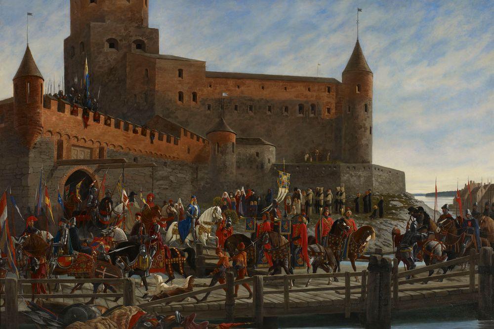 Karl Knutson Bonde Leaving Vyborg Castle for the Royal Election in Stockholm 1448