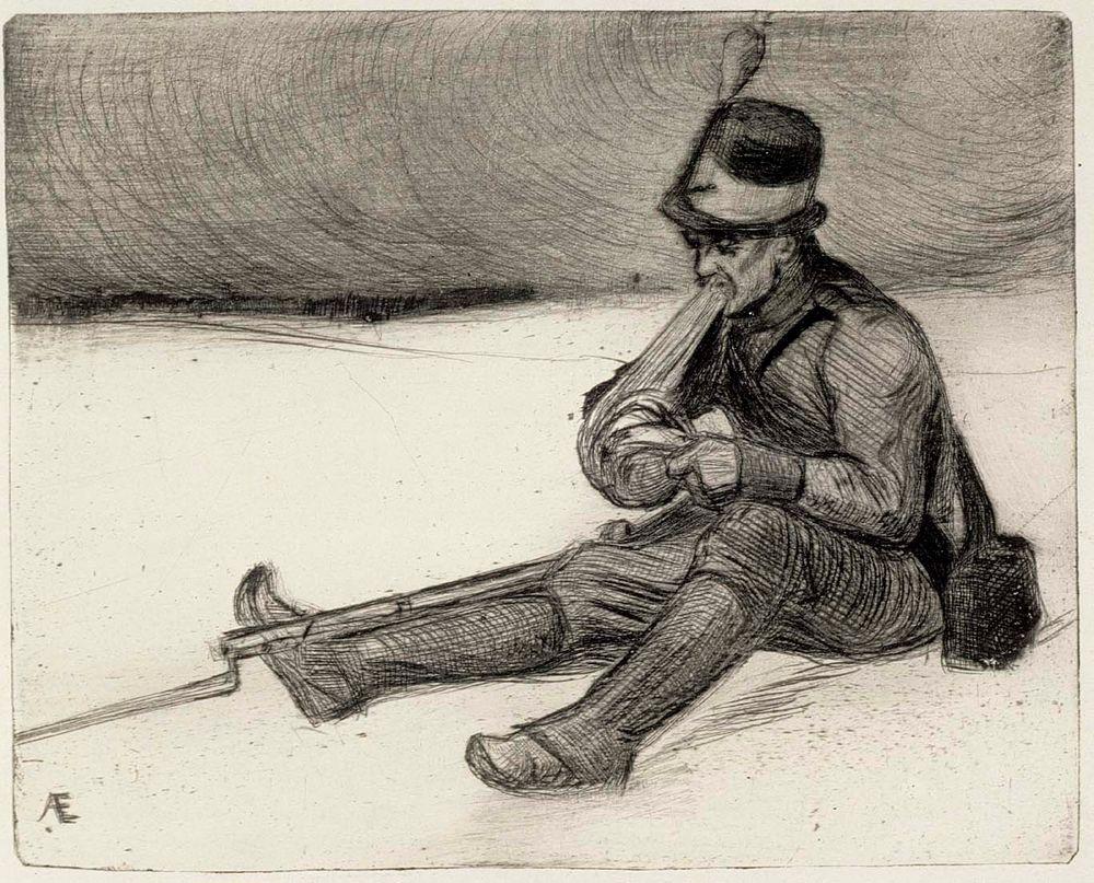 Haavoittunut soturi vuonna 1808