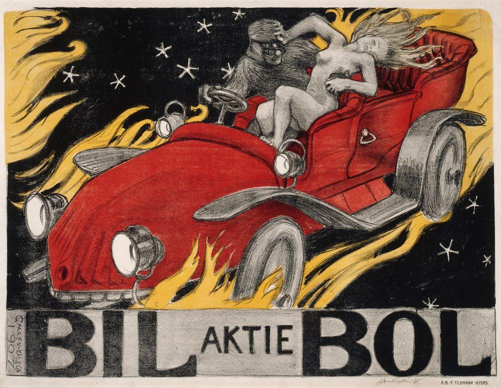 Bil-Bol, autoliikkeen juliste