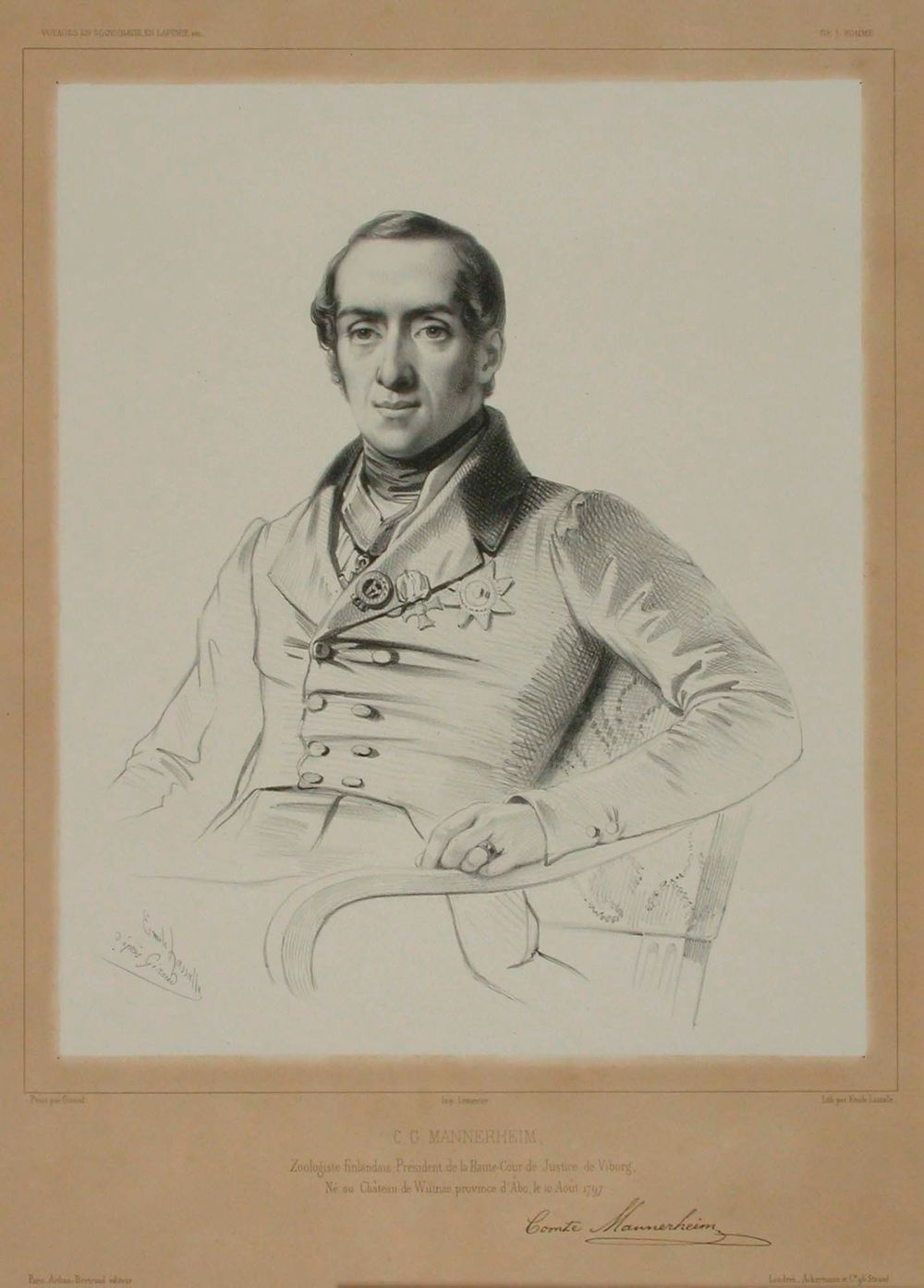 Kreivi C.G. Mannerheimin muotokuva, Pierre Francois Eugene Giraudin mukaan