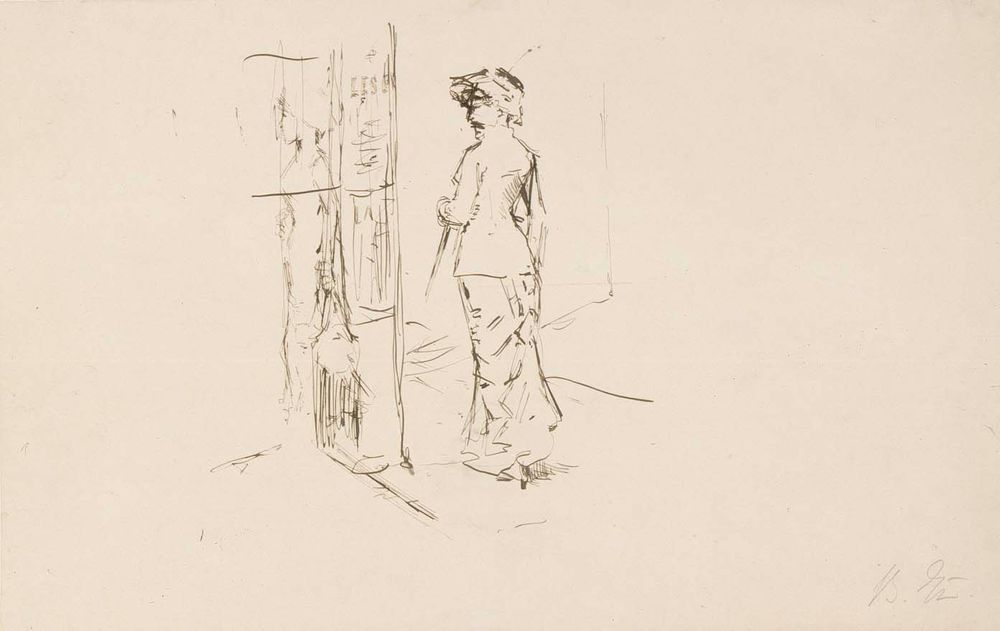Nainen kävelyllä