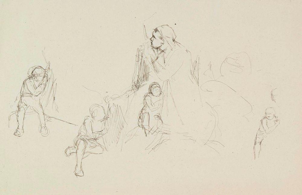 Burned Village, sketch