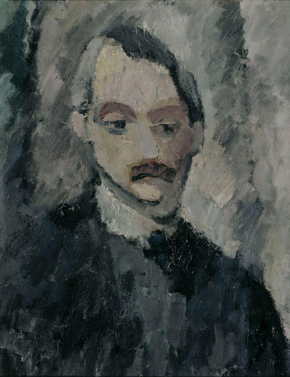 Kuvanveistäjä Nils E. Santessonin muotokuva