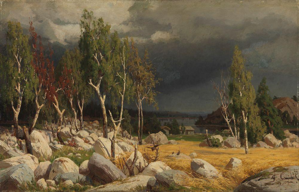 Kaski, maisema Uudeltamaalta