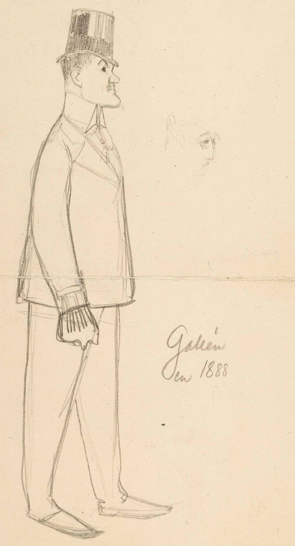 Axel Gallénin muotokuva, profiili