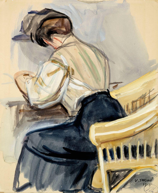 Kirjoittava nainen