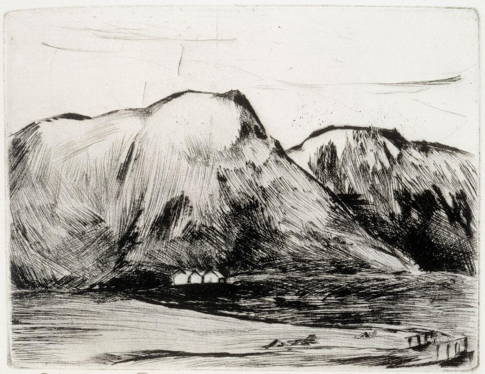 Maisema Islannista (Essja)