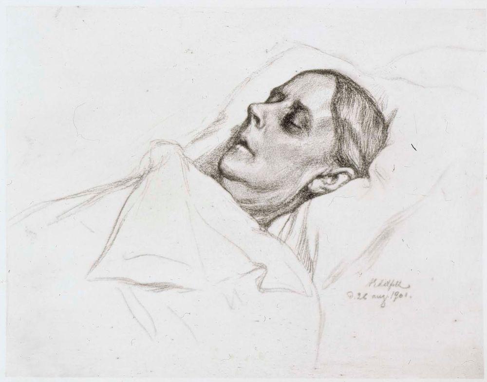Taiteilijan äiti kuolinvuoteellaan