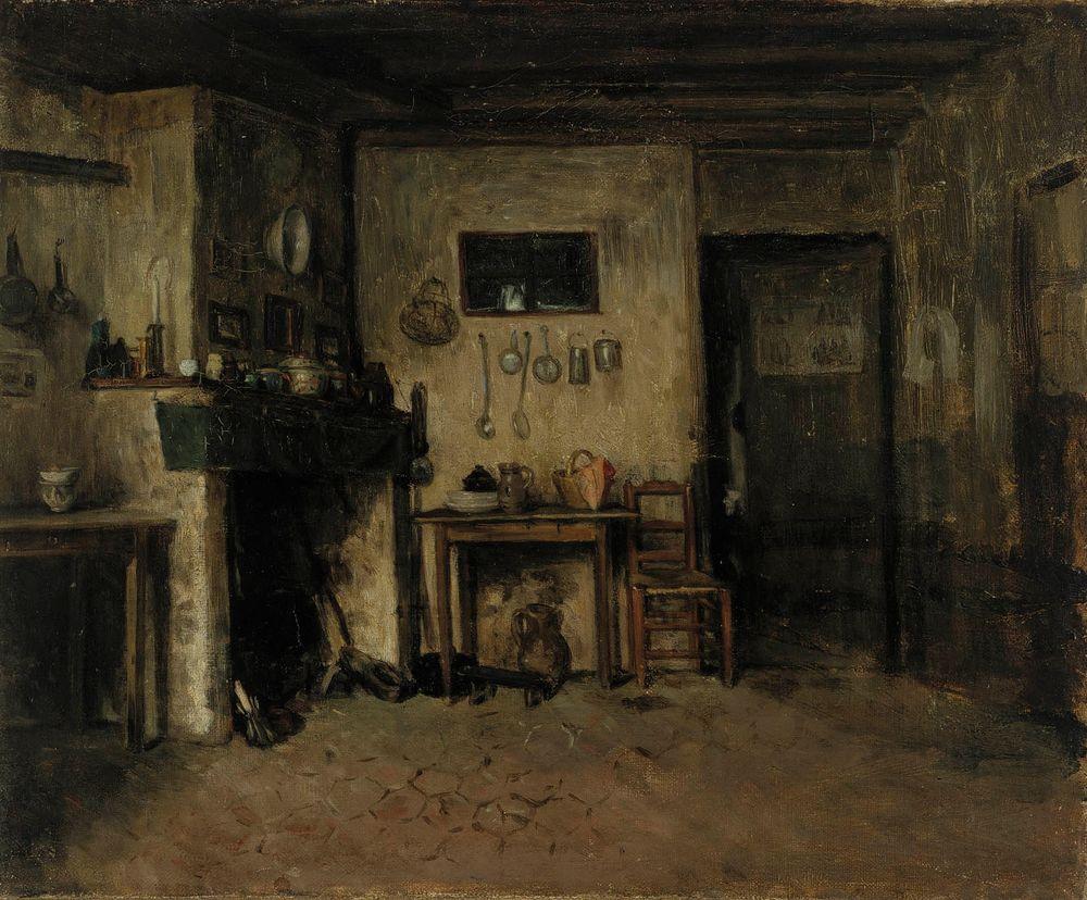 Sisäkuva ranskalaisesta maalaistalosta