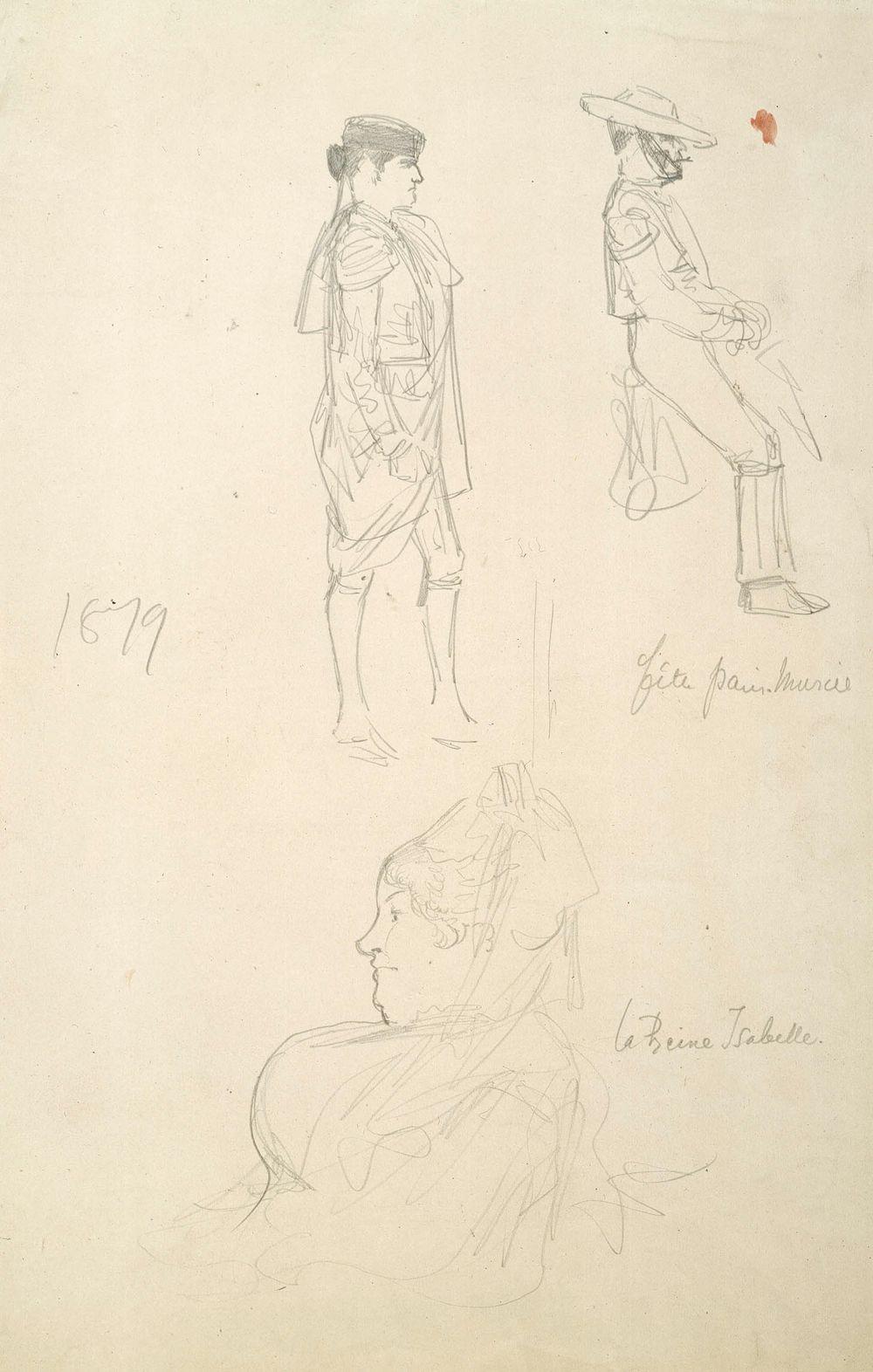 La Reine Isabella, harjoitelma sekä kaksi espanjalaista toreadoria