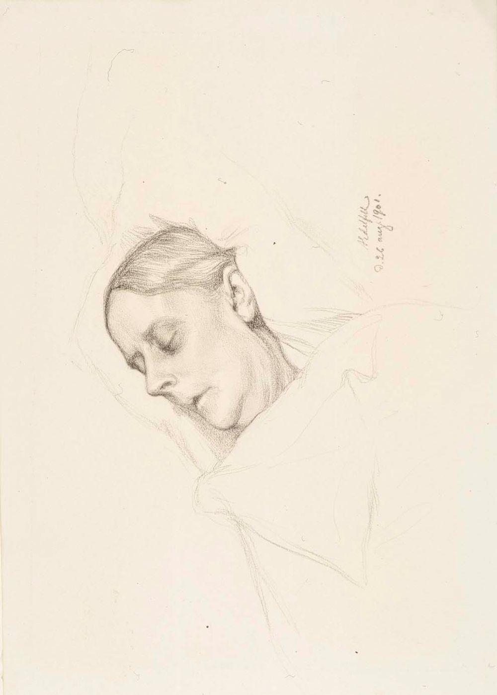 Rouva Alexandra Edelfelt kuolinvuoteellaan