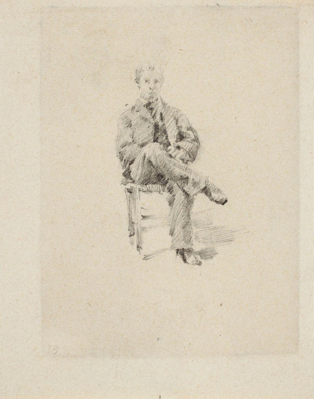 Istuva nuorukainen