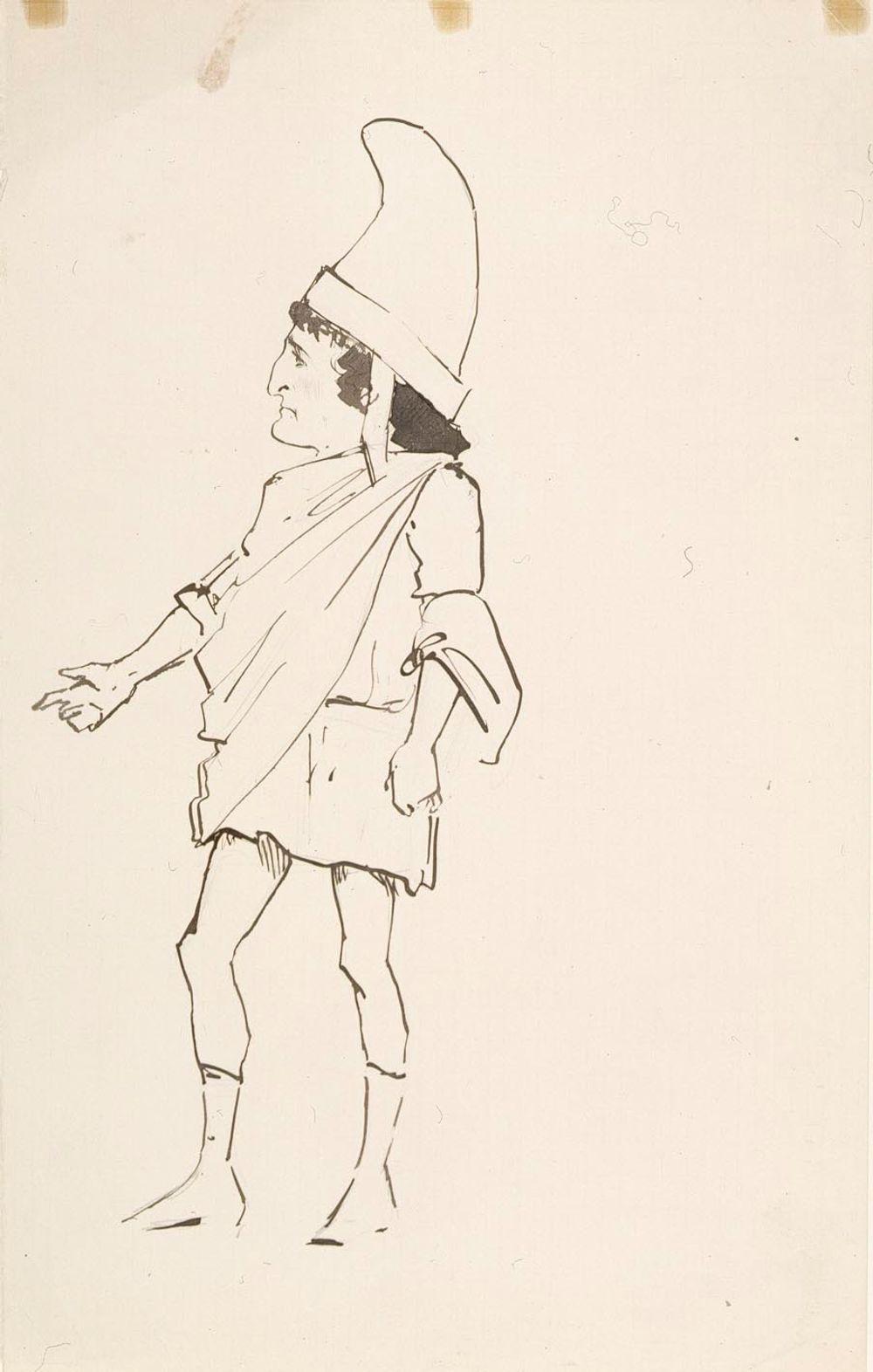 Karikatyyri antiikin sotilaasta