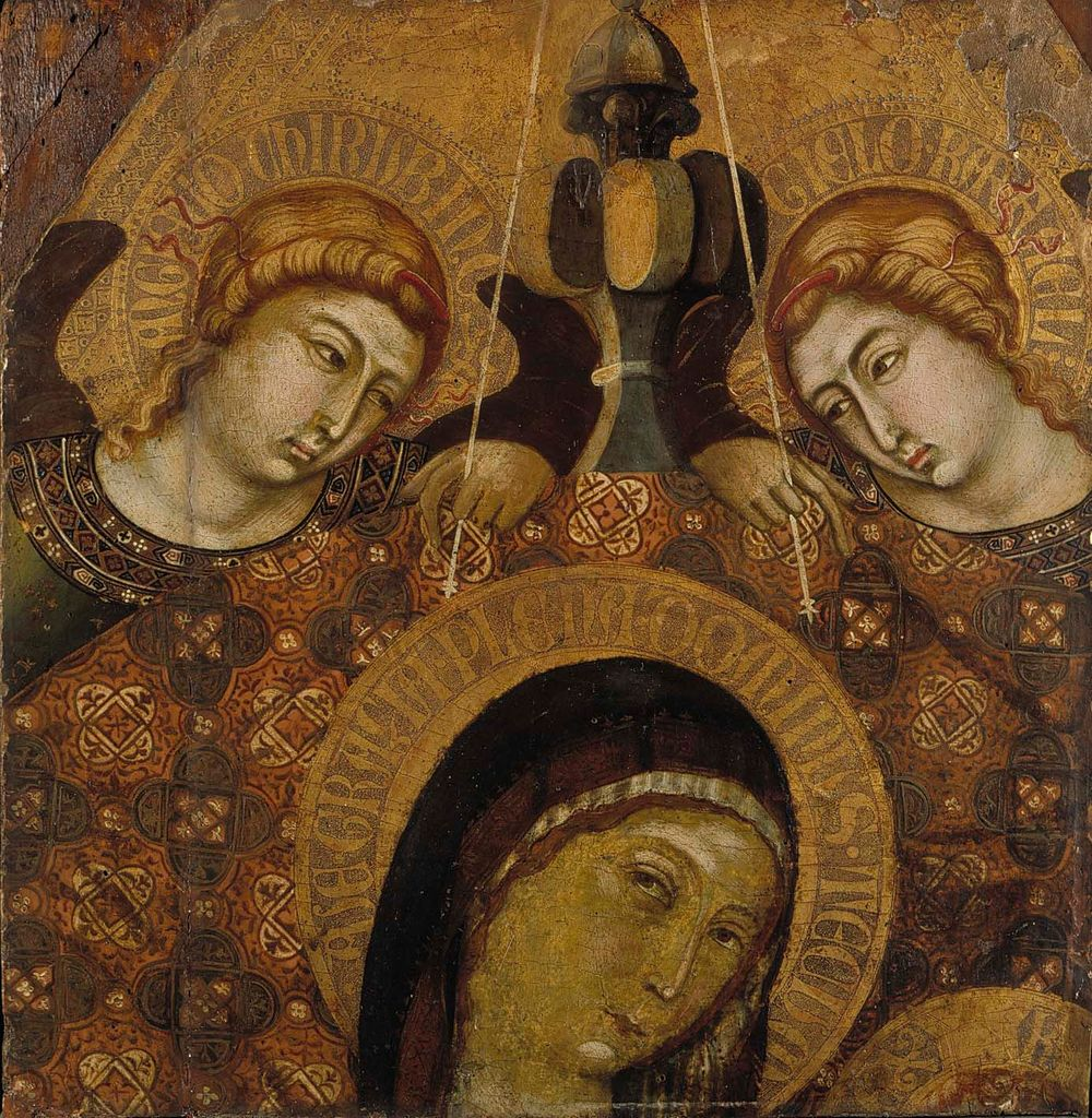 Madonna valtaistuimella, fragmentti