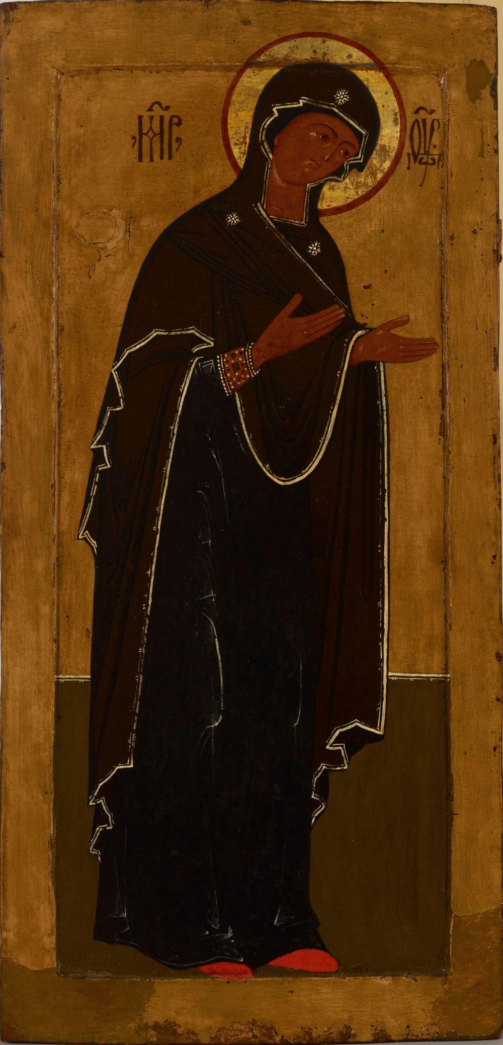 Jumalanäiti Deisis-ryhmästä, venäläinen ikoni