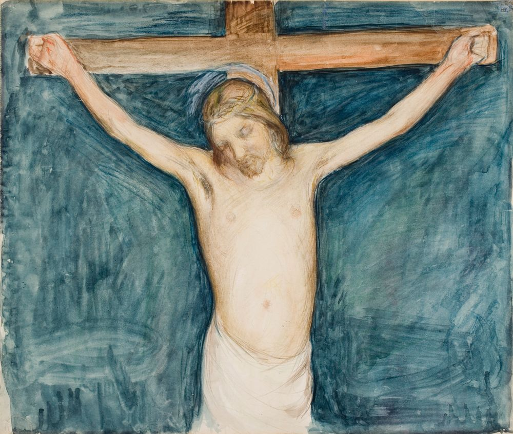 Ristiinnaulittu, luonnos Mikkelin kirkon alttaritaulua varten