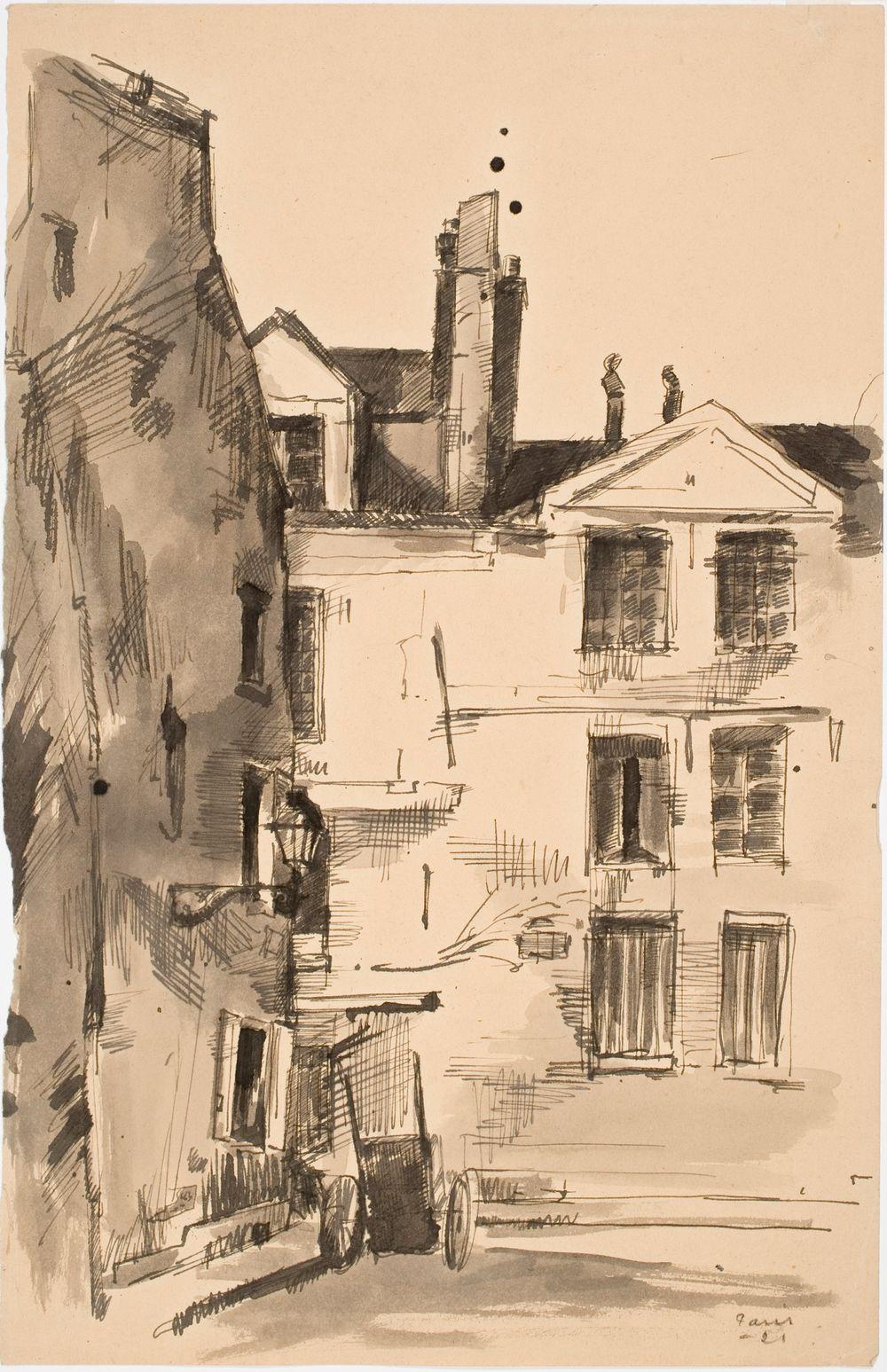 Pariisista, vanhoja rakennuksia