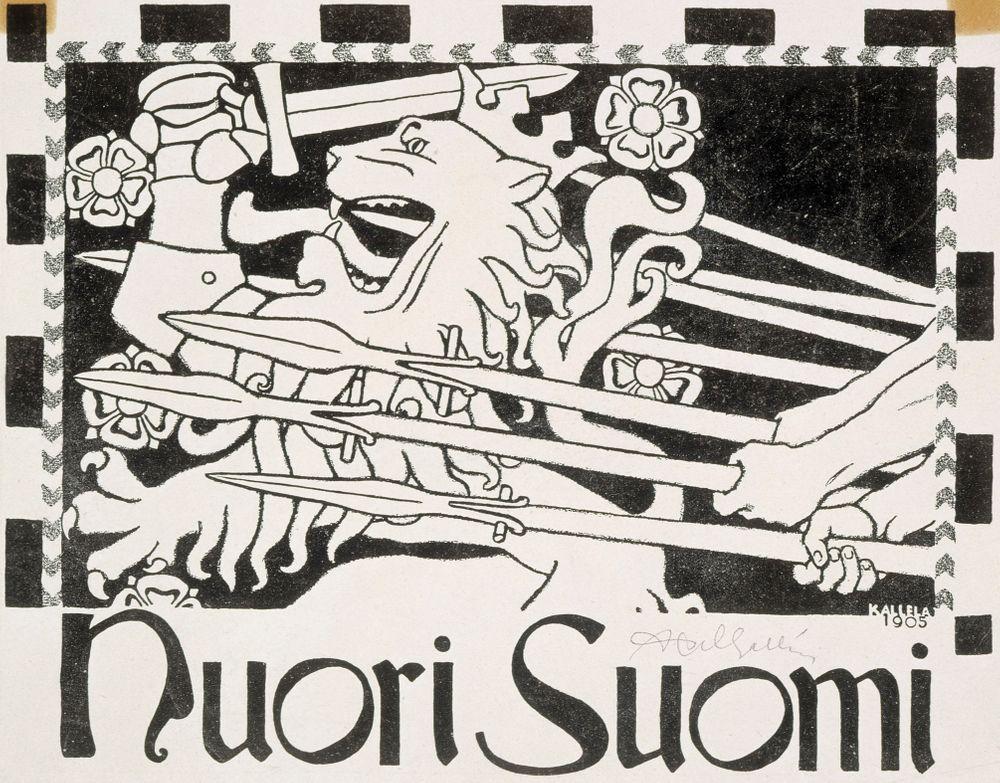 Nuoren Suomen vignetti