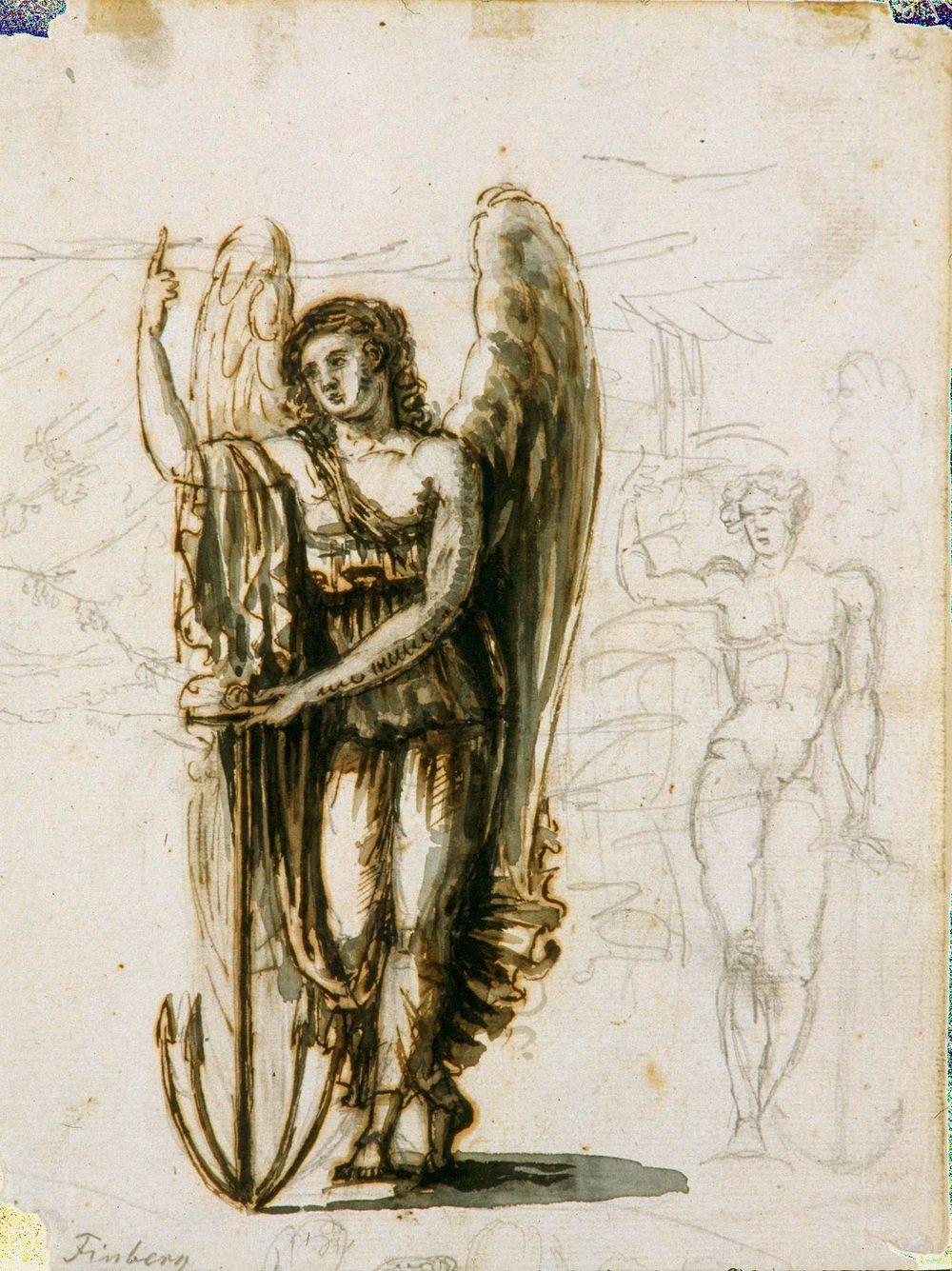 Seisova enkeli, Toivo, allegoria