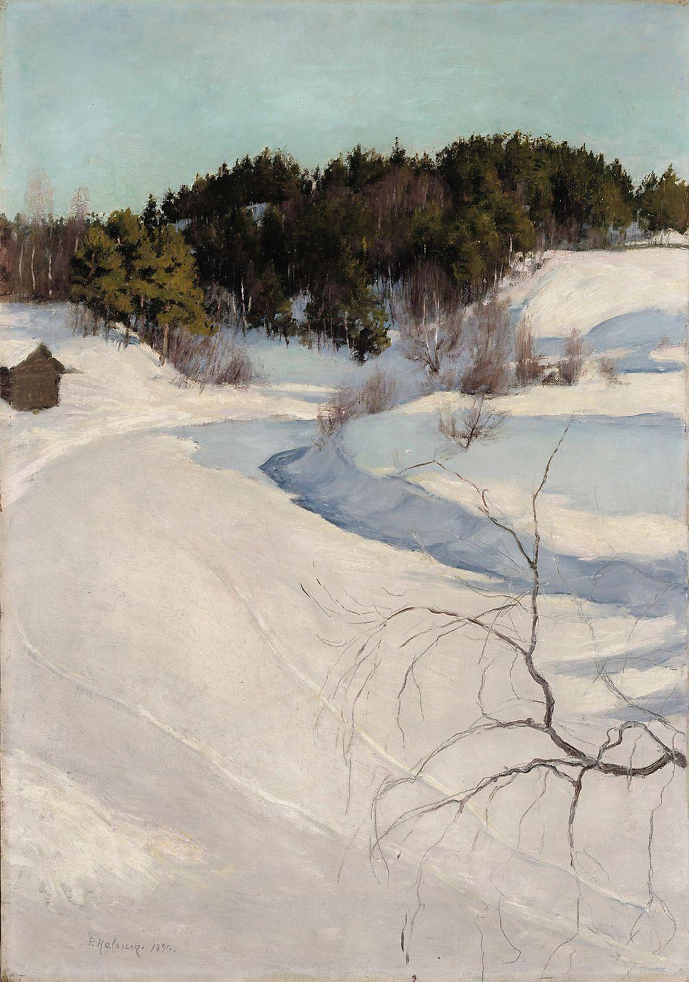 Talvimaisema Myllykylästä