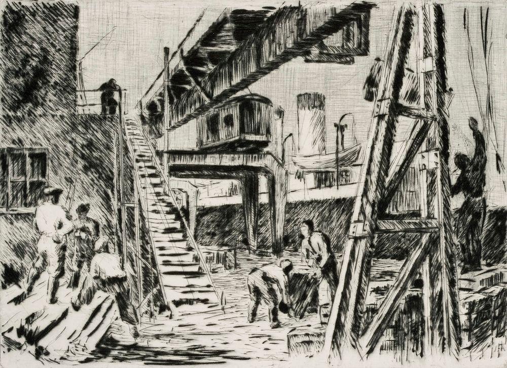 Työmiehiä satamassa