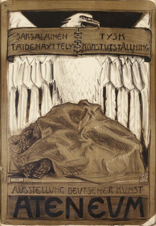 Juliste Saksalaiseen taidenäyttelyyn Ateneumissa 1922