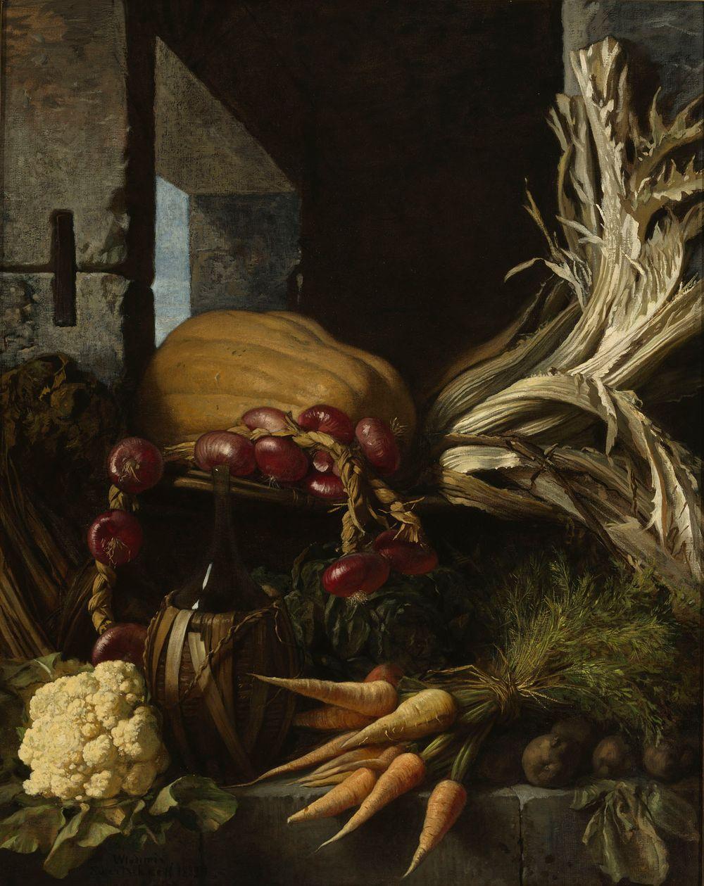 Juureksia ja vihanneksia kellarissa