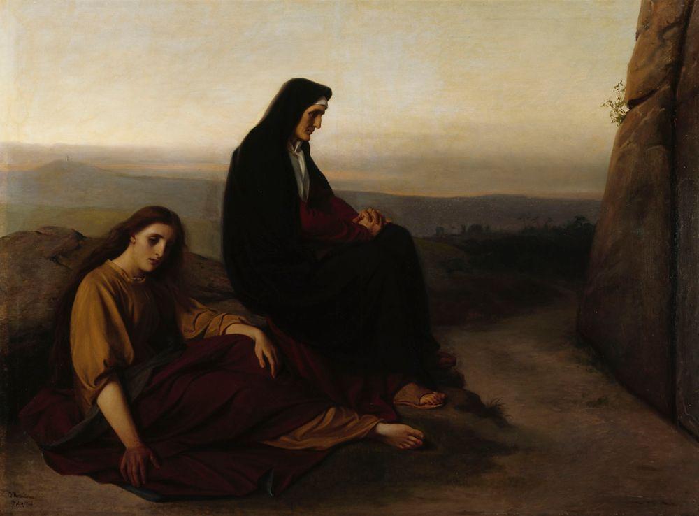 Surevia naisia Kristuksen haudalla
