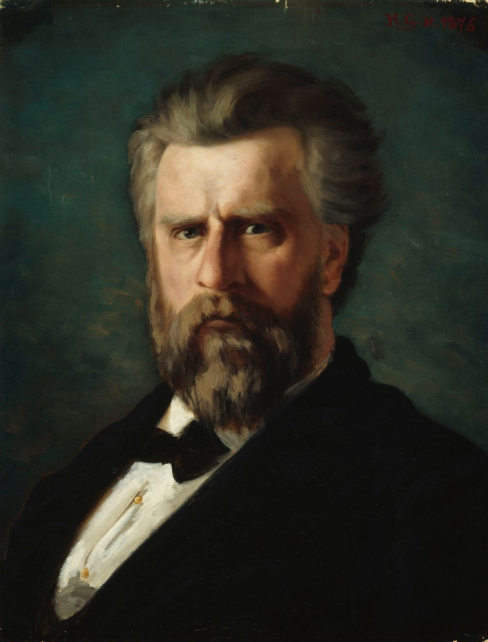 Kuvanveistäjä C. E. Sjöstrandin muotokuva