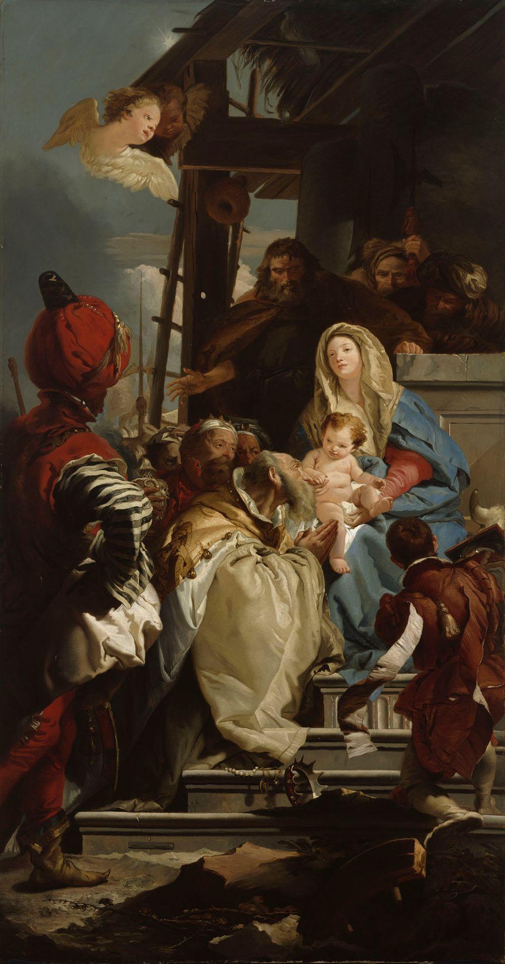Itämaan tietäjät kumartamassa Kristusta, kopio Giovanni Battista Tiepolon mukaan
