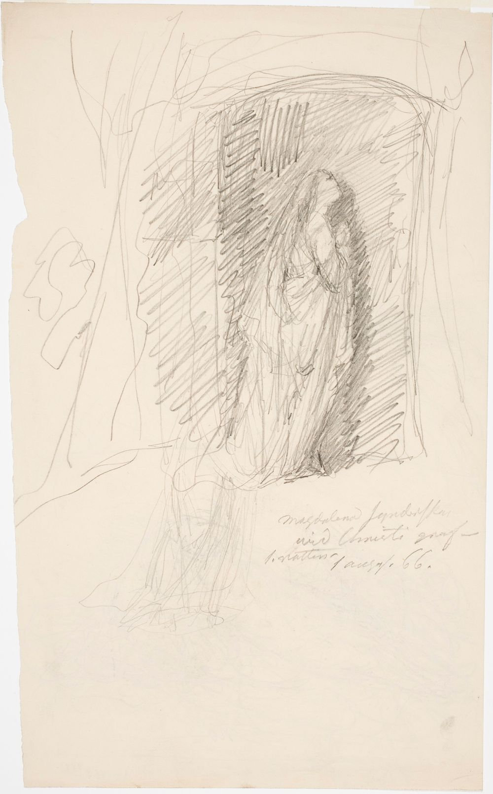"""Katuva Magdaleena Kristuksen haudalla - """"ensimmäinen yö"""""""